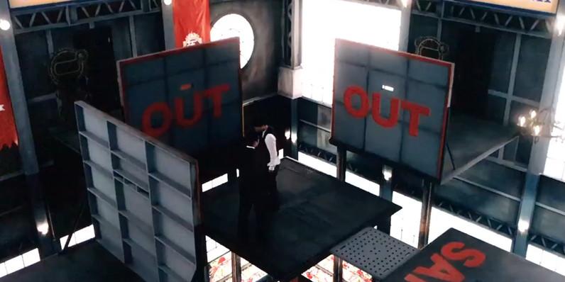 実写ドラマ「ゼロ 一攫千金ゲーム」でのクォータージャンプのセット