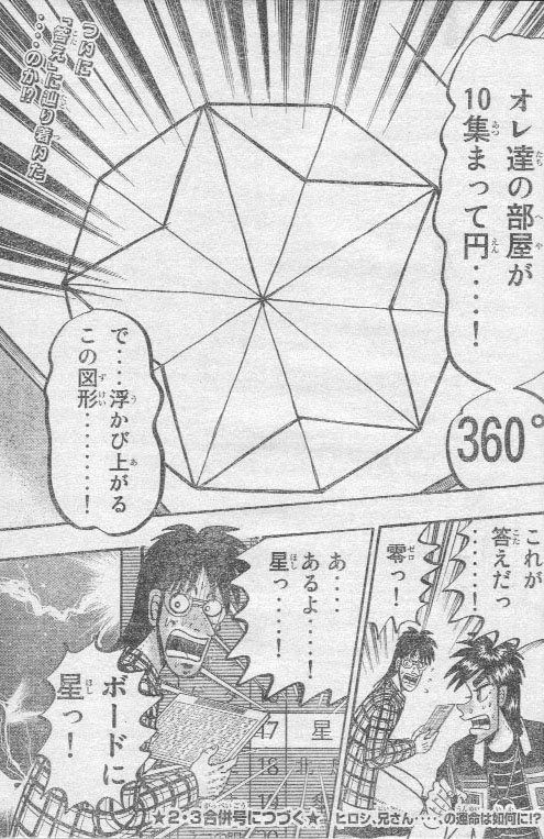 原作「賭博覇王伝 零」より、迷宮のトライアングルで「星」に辿り着くシーン